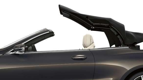BMW 8er Cabrio innovatives Stoffverdeck in Anthrazit mit Silbereffekt